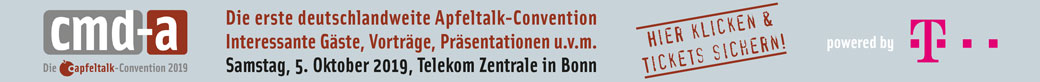 cmd-a die Apfeltalk-Convention 2019 - Tickets hier klicken