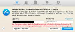 apple id passwort wird nicht akzeptiert