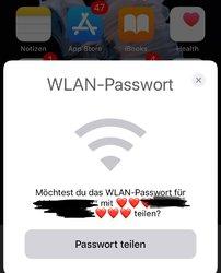wlan passwort teilen