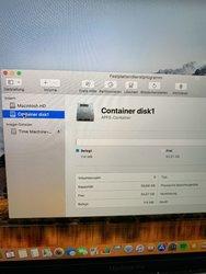 Container Disk1 löschen auf der High Siera installiert ist