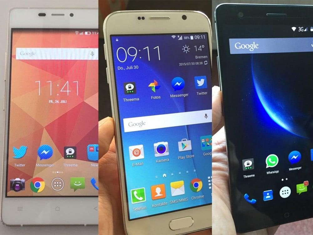 Aktuelle China-Smartphones