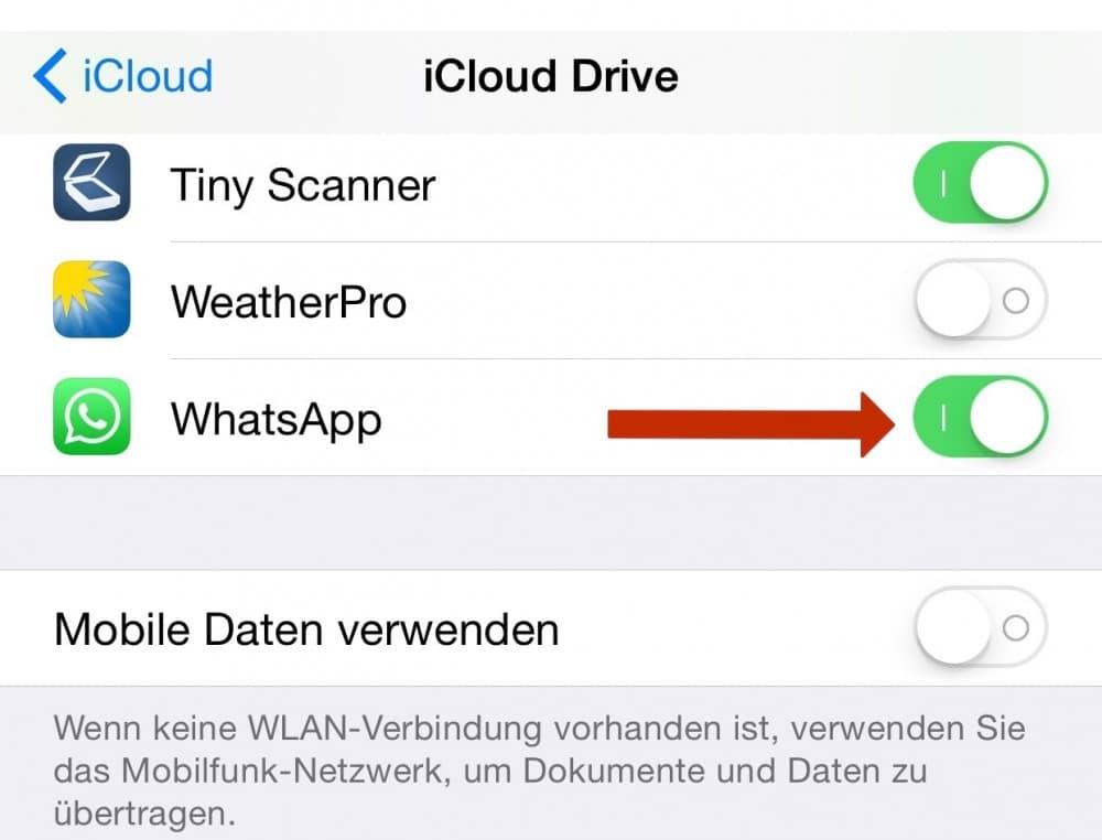 daten whatsapp übertragen