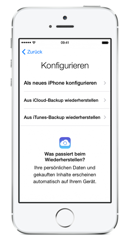 NEUES IPHONE BACKUP LADEN