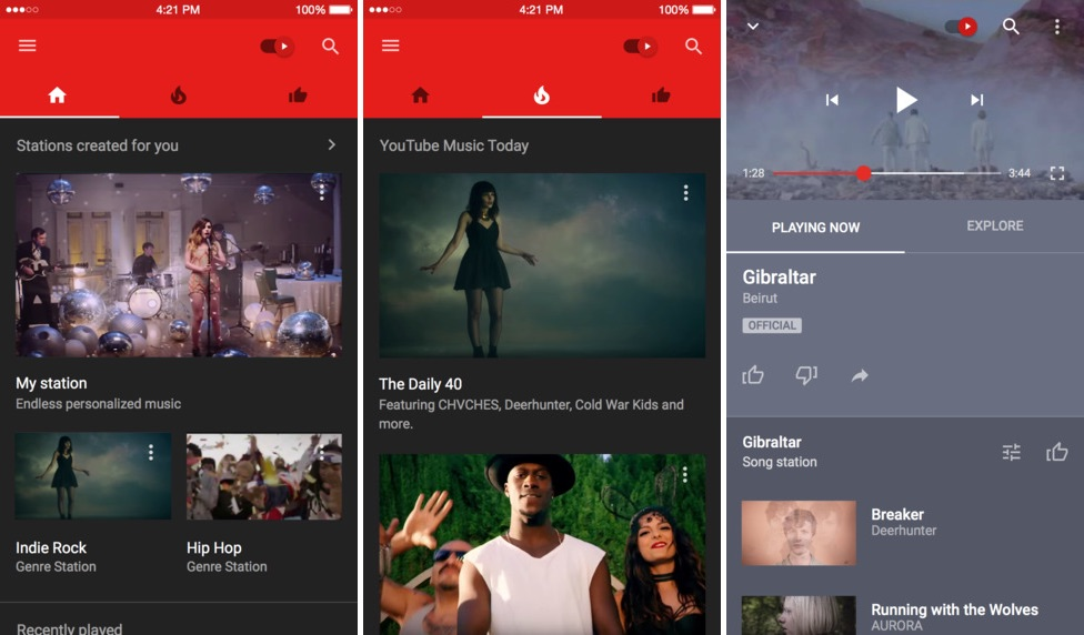 YouTube Music Screenshots