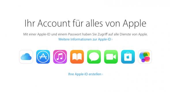 Mit der AppleID wird alles im Apple-Kosmos verwaltet.