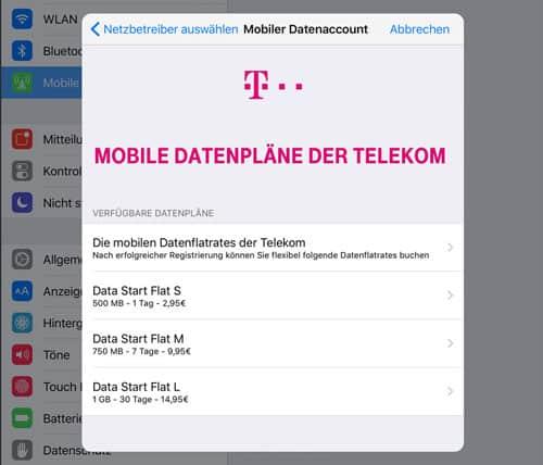 Apple-SIM eSIM Telekom