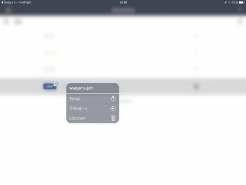 Durch einfaches Tippen lassen sich Links zum Zugriff auf die Dateien erzeugen.