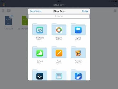 Zugriff auf Dateien im iCloud Drive freigeben.