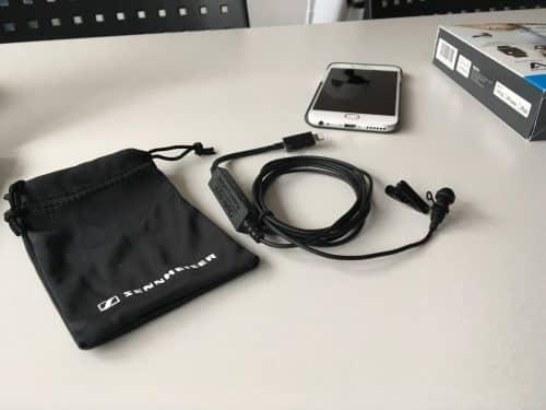Das Mikrofon und der Analog-Digital-Wandler passen in die kleine mitgelieferte Tasche.