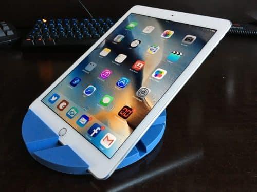 Auch mit einer flacheren Position des iPad kommt Smartmat klar.