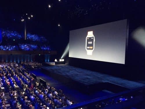 Apple-Keynote zur WWDC im Bill Graham Civic Auditorium mit über 5.000 Anwesenden.