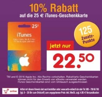 iTunes-Karte Netto