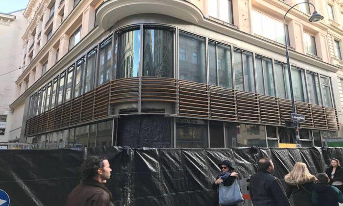 Apple Store Wien - Erste Aufnahmen der Baustelle