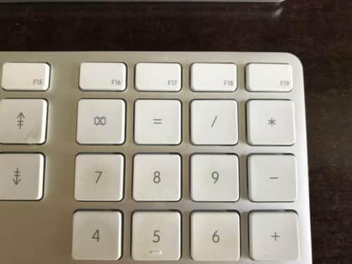 Zum Vergleich: Der Zahlenblock auf dem Apple-Original.