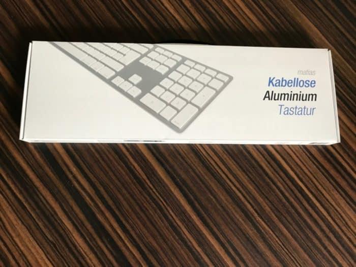 Kabellos und dennoch chic. Die Aluminium-Tastatur von Matias.