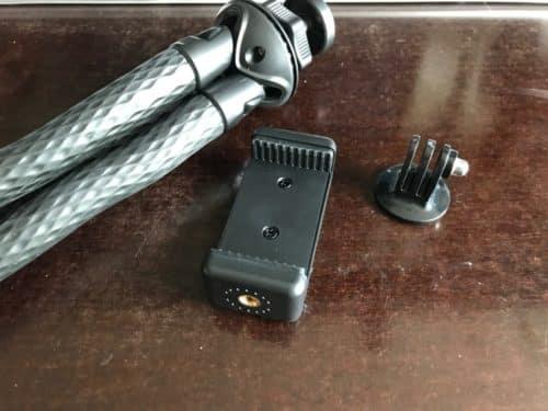 Kommt mit Adaptern für iPhone und Actioncam.