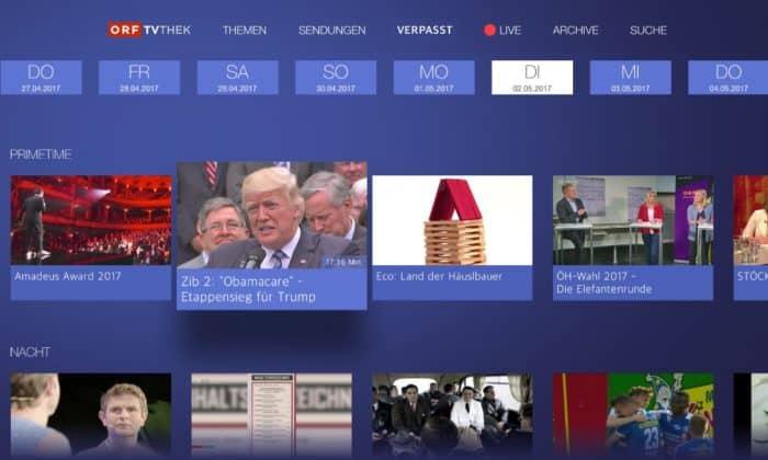 ORF-TVthek am Apple TV