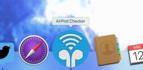 Unser Airport Checker macht sich auch gut im Dock.