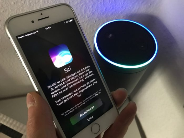 Siri und Amazon Echo