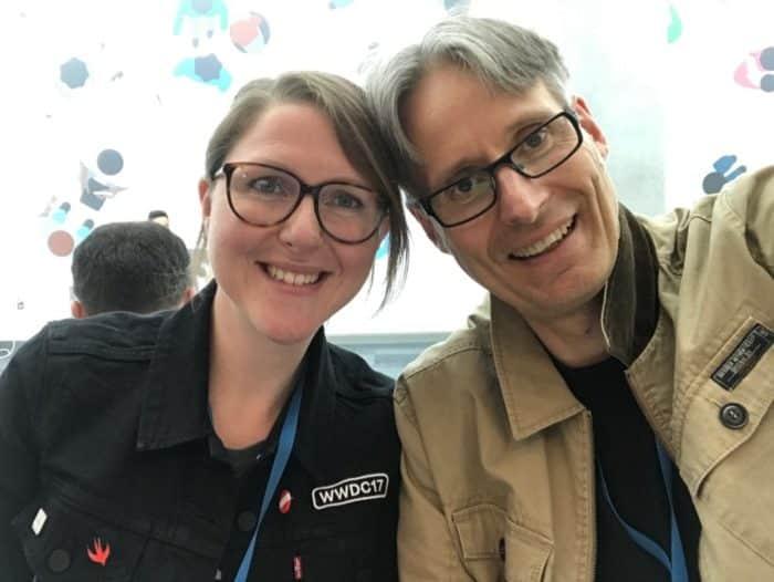 Manuela Rink und Michi auf der WWDC.