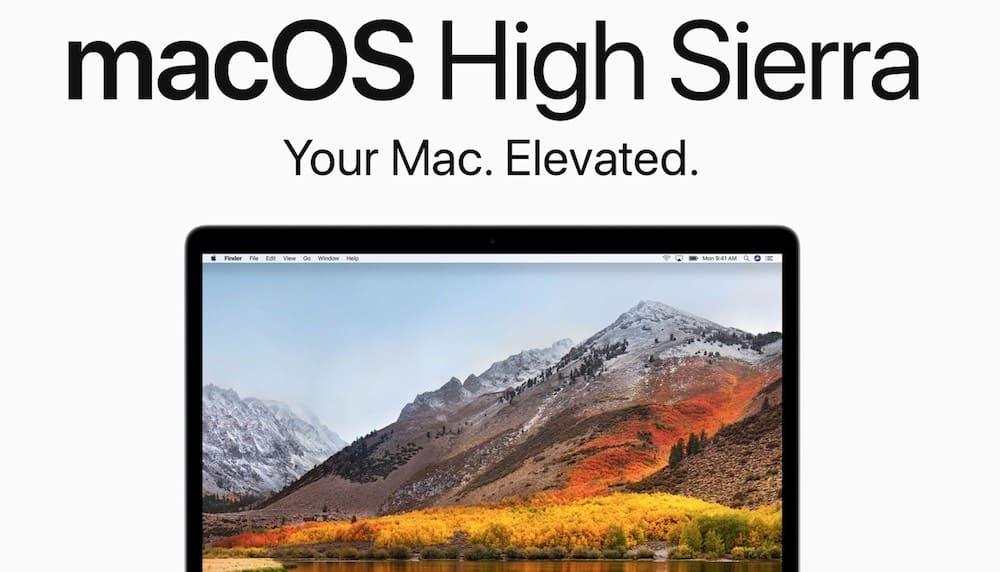 SSD macOS High Sierra