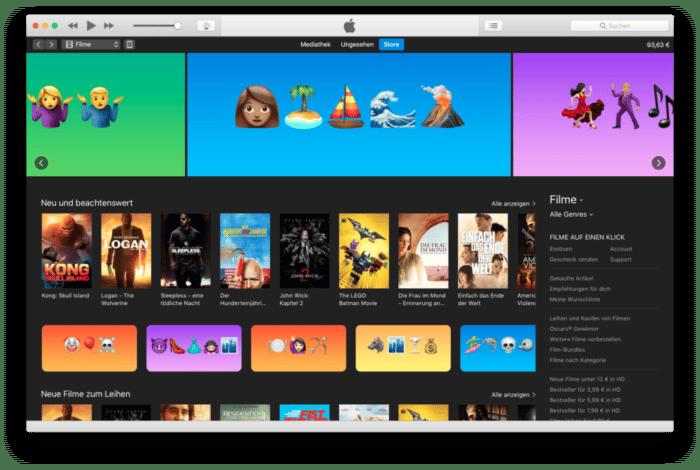 iTunes Store Welt-Emoji-Tag