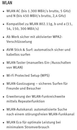 7490 technische Daten WLAN