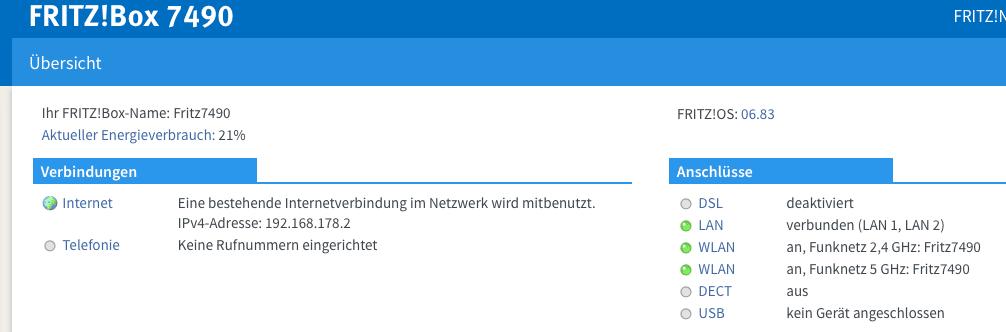 Mitbenutzung der Internetverbindung