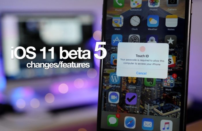 iOS 11 Developer-Beta 5