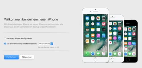 iPhone einrichten