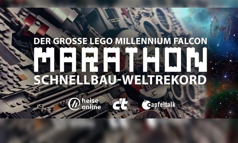 Weltrekordversuch: Lego-Millenium-Falke im Schnellbau-Marathon