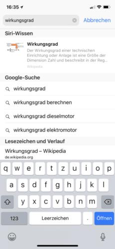 Suchwort in der URL-Leiste