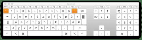 Tastaturübersicht