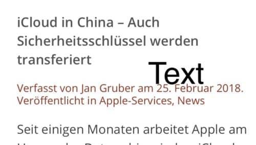 Bildschirmfoto Text