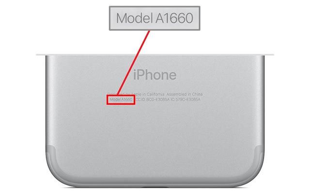 iPhone 7 Modellnummer
