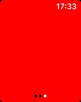 AppleWatch Taschenlampe rot