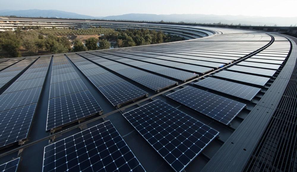 Apple Park Solaranlage erneuerbare Energie