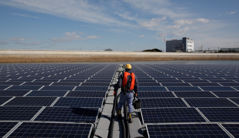 Solar-Anlage von Apple in Japan, erneuerbare Energie