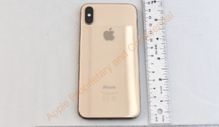 iPhone X in Gold FCC