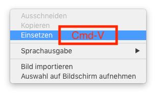Universelle Zwischenablage - Cmd-V