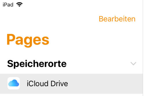 Pages - iCloud-Drive