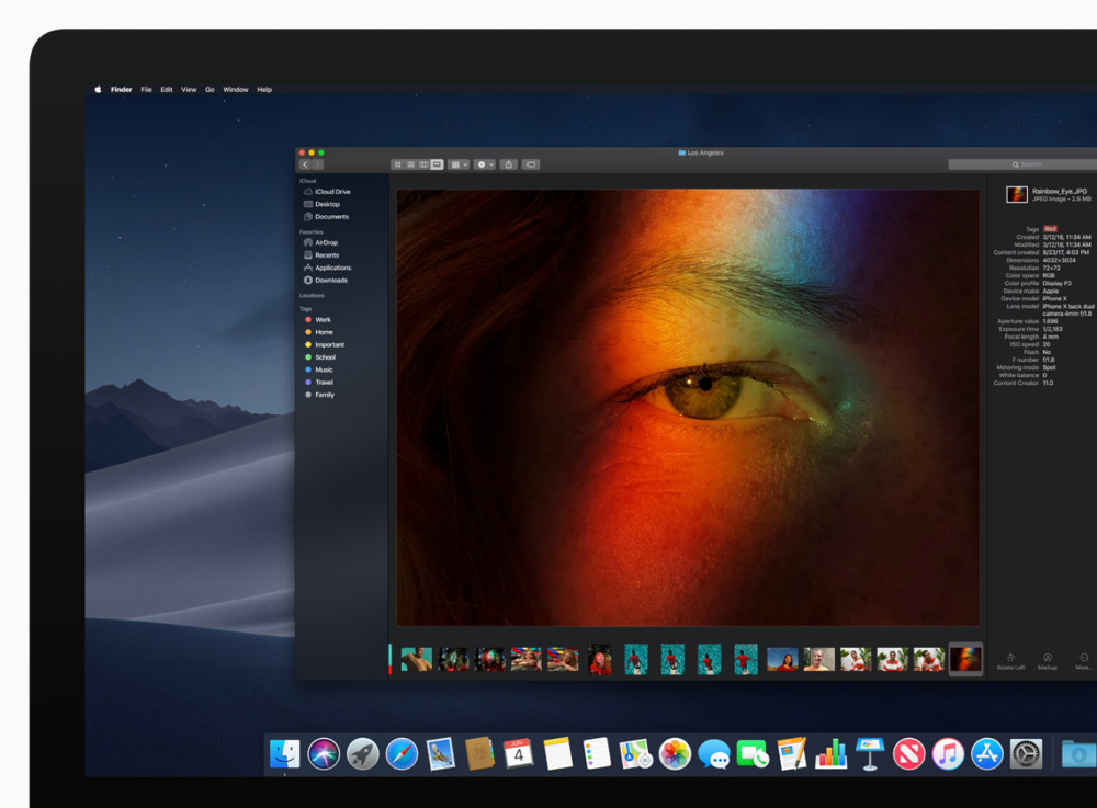 macOS Mojave Dark-Mode Finder