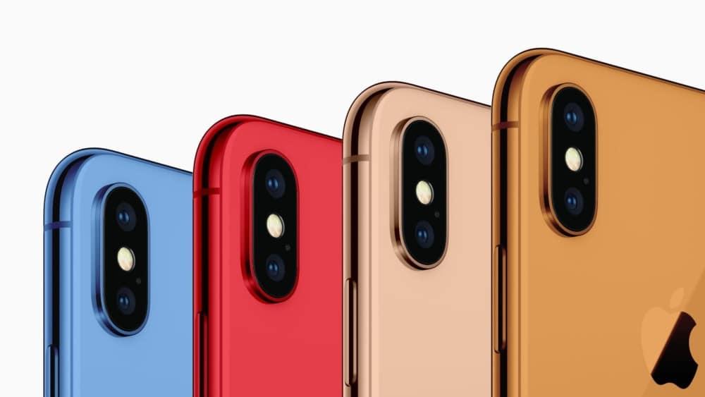 iPhones 2018 Gehäusefarben