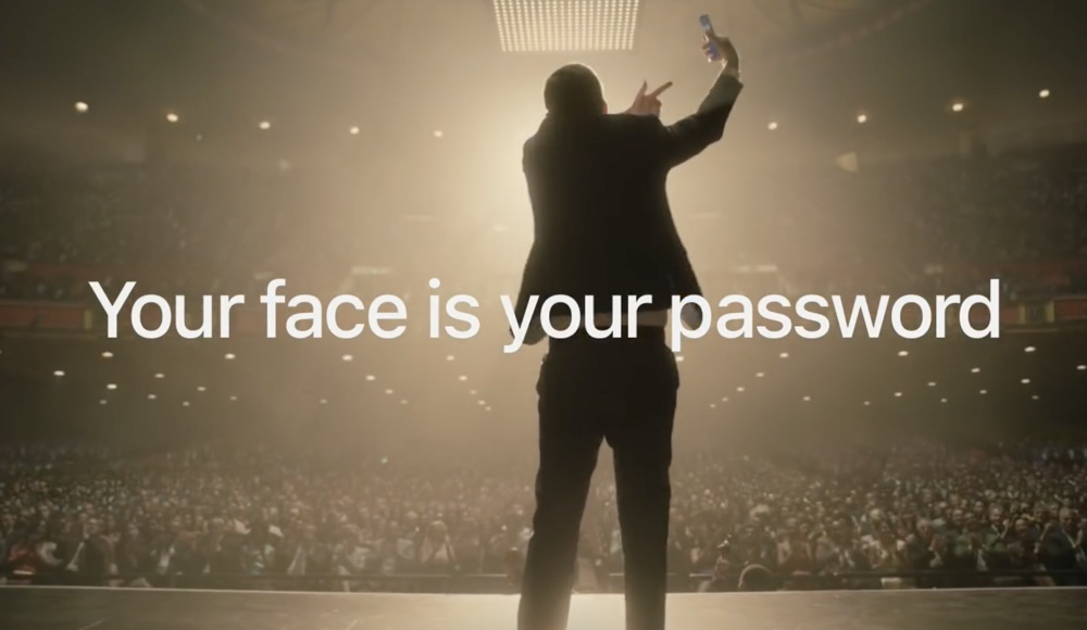 iPhone X Face ID Werbung