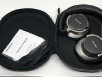 Tasche und Kopfhörer