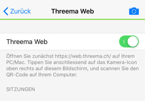 Threema-Web-Einstellung
