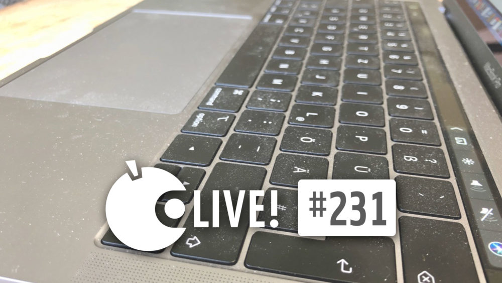 Ein stark verschmutztes Apple Mac Book pro Keyboard