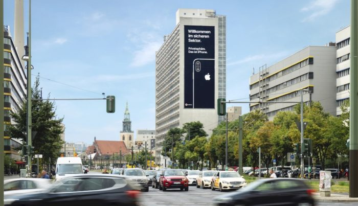 Apple-Plakat Berlin