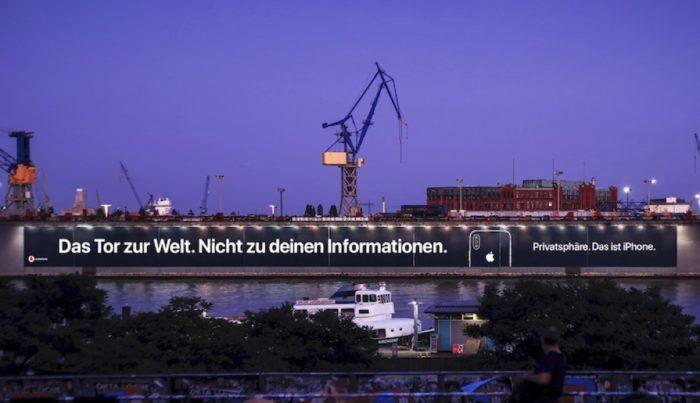Apple-Plakat Privatsphäre Hamburg