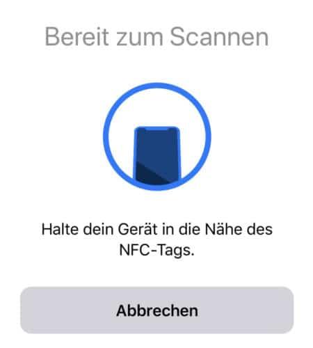 NFC Scannen